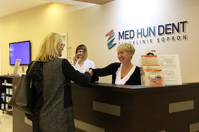 MedHunDent Zahnklinik Sopron - Rezeption