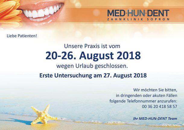 Med-Hun-Dent 2018 August Öffnungszeit